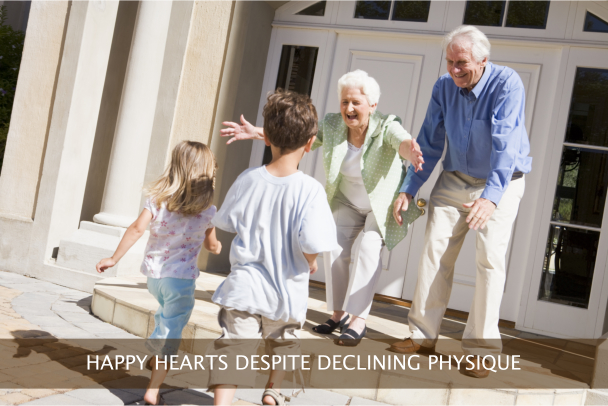 HAPPY HEARTS DESPITE DECLINING PHYSIQUE